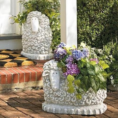 Sitting Sheep Planter Spring Garden Patio Porch