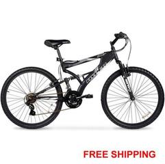 Men's Mountain Bike Black Aluminum Frame Bicycle