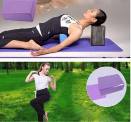 Pilates EVA Yoga Block Brick Sports Exercise Fitness Gym